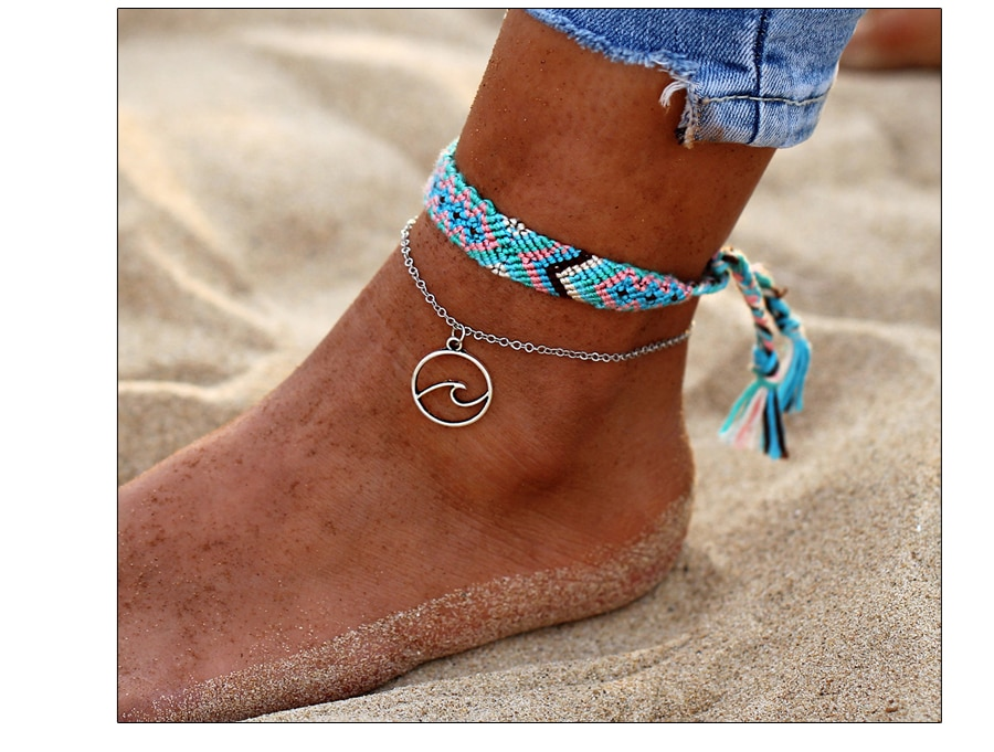 Women's Vintage Knitted Cotton Anklet