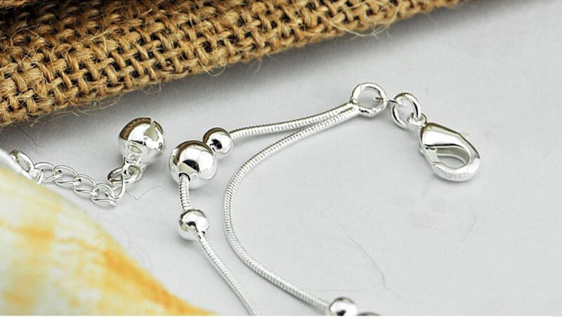 Minimalist Style 925 Sterling Silver Anklet for Women