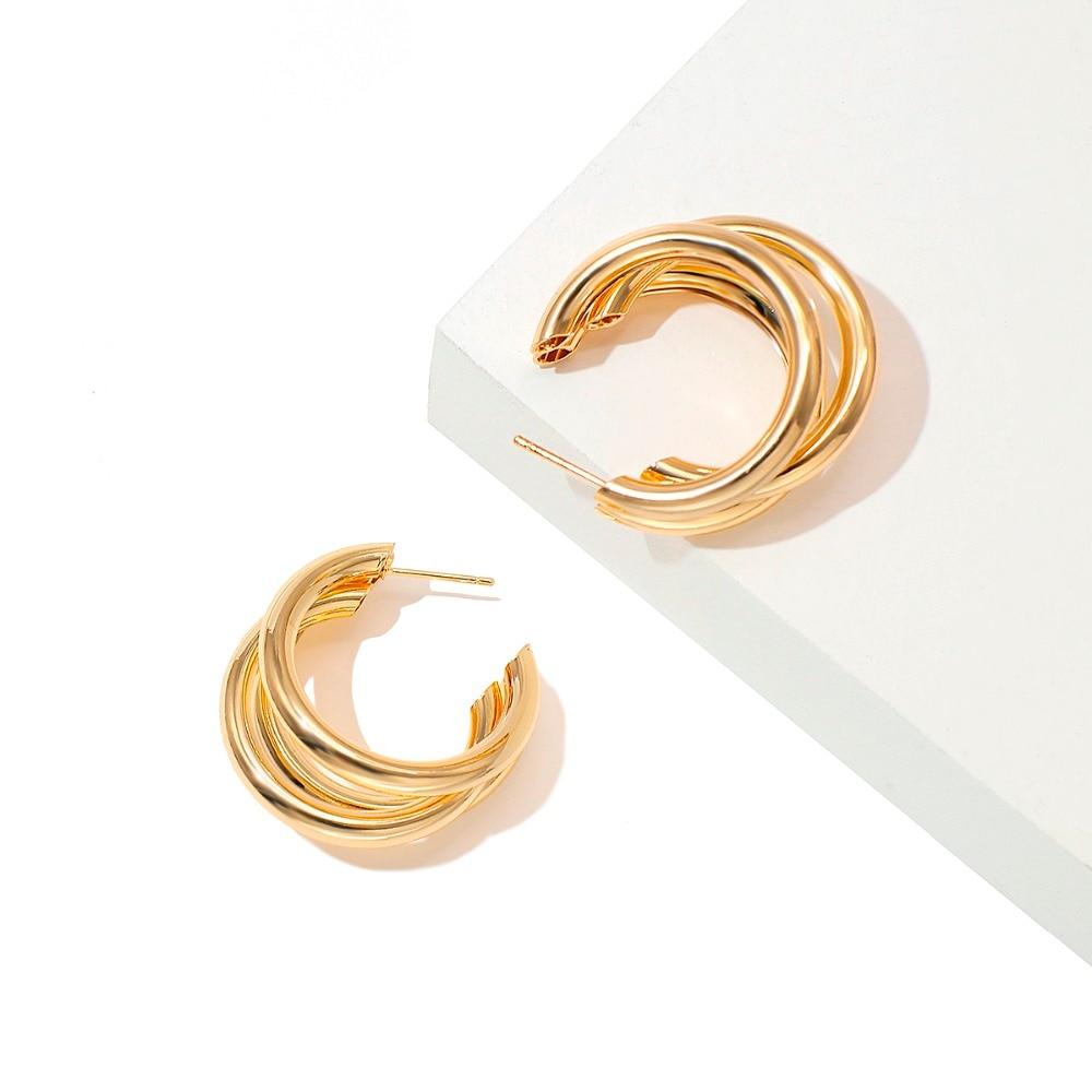 Women's Fashion Round Hoop Earrings