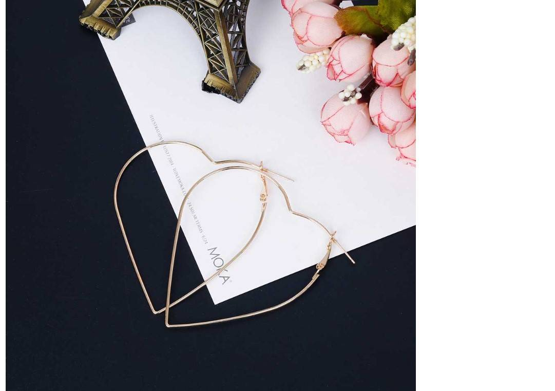 Women's Heart Shaped Hoop Earrings