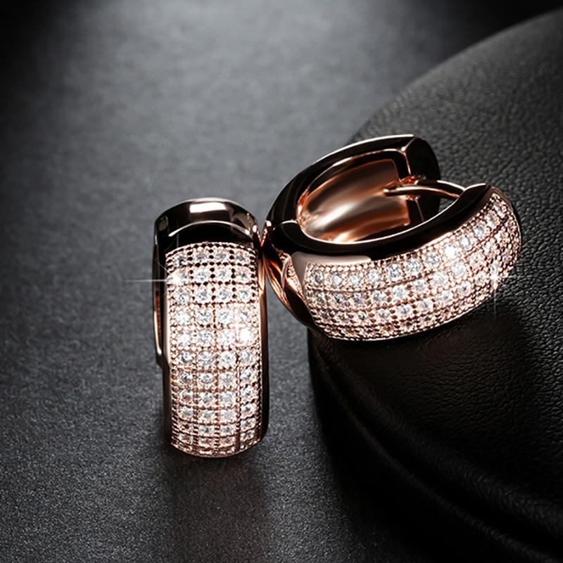 Classic Women's Earrings with Zirconia
