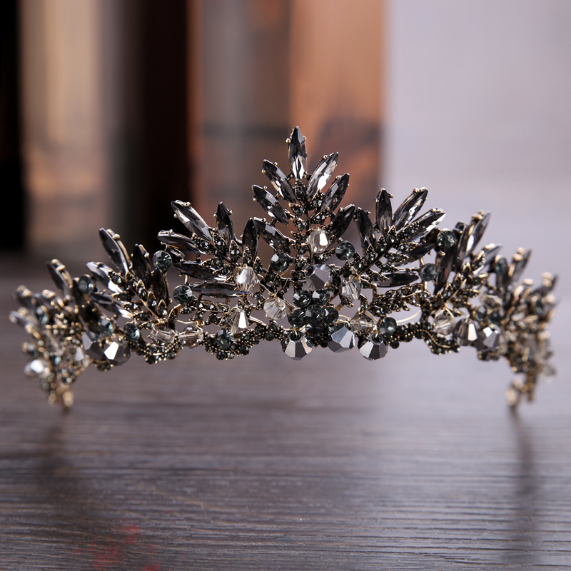 Vintage Style Rhinestone Decorated Crown for Women