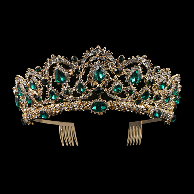 Women's Baroque Crystal Tiara with Comb