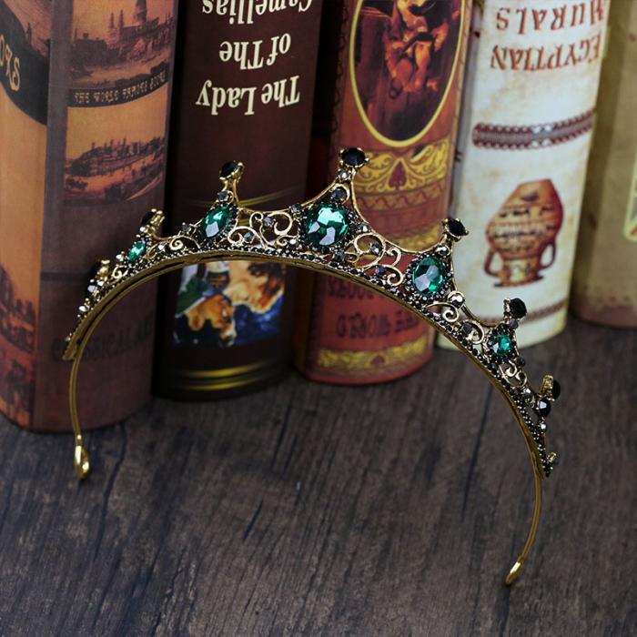 Green Crystals Design Princess Crown