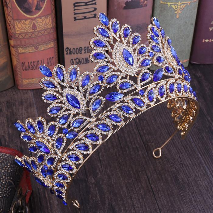Women's Crystal Floral Shape Tiara