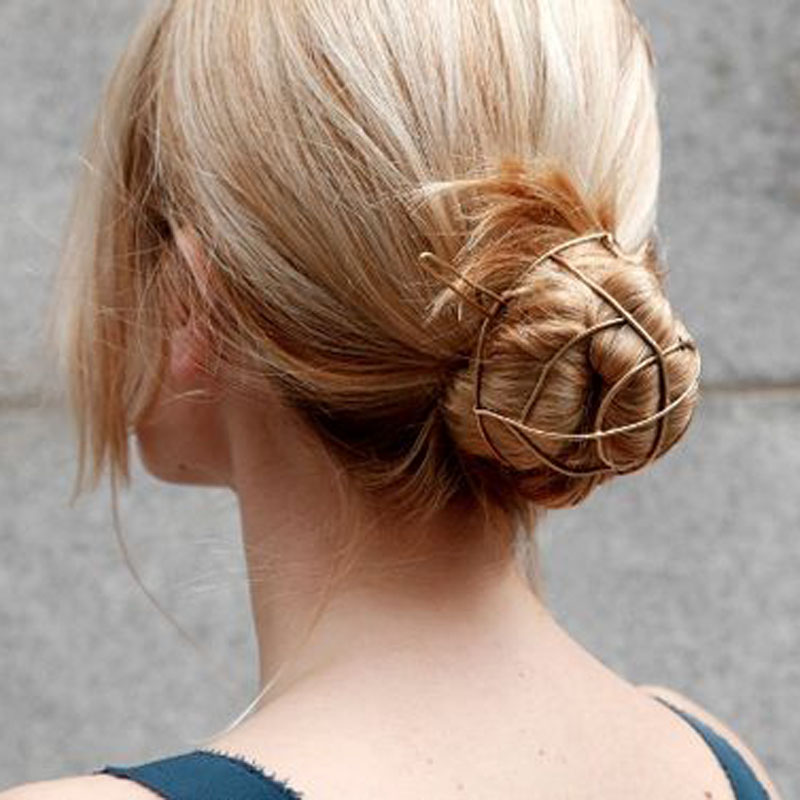 Women's Vintage Bun Cage Hair Jewelry