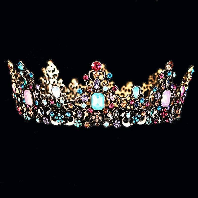 Baroque Crystal Tiara for Women
