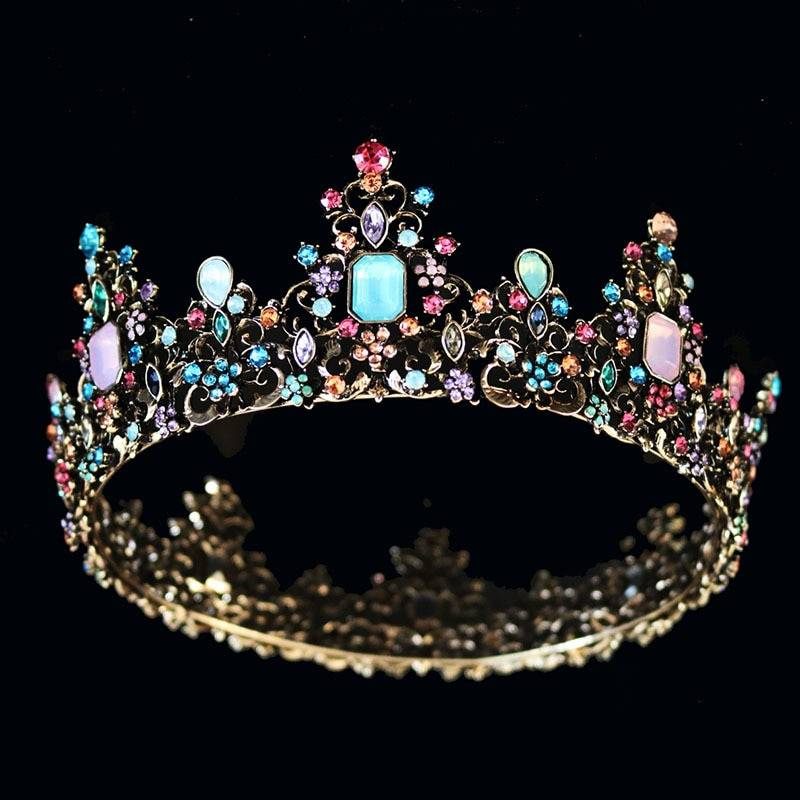 Baroque Crystal Tiara for Women Hair Jewelry 8d255f28538fbae46aeae7: Colorful Silver Colorful