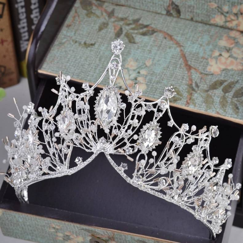 Baroque Style Rhinestone Tiara Hair Jewelry cb5feb1b7314637725a2e7: Gold|Silver