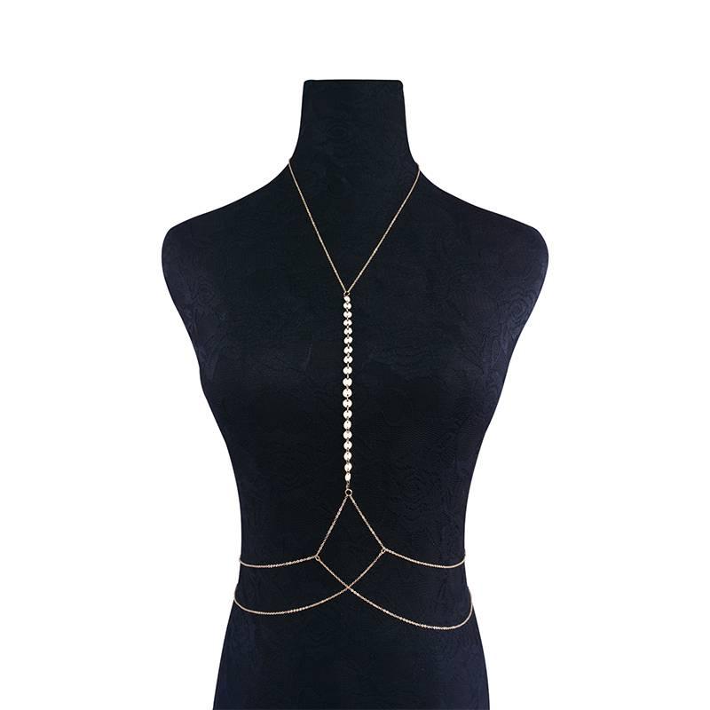 Beautiful Body Chain for Women Body Jewelry cb5feb1b7314637725a2e7: Golden|Silver