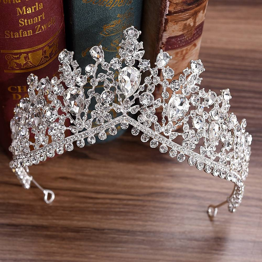 Bridal Tiara in Multiple Variations Hair Jewelry cb5feb1b7314637725a2e7: Blue|Gold|Green|Pink|Red|Silver
