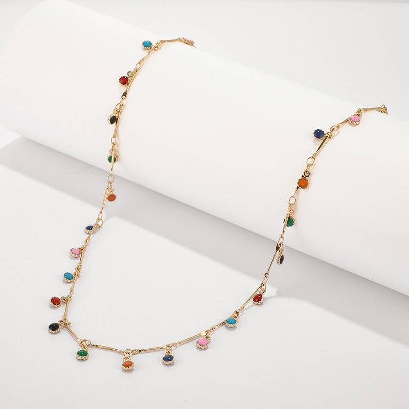 Casual Choker for Girls Necklaces cb5feb1b7314637725a2e7: Gold