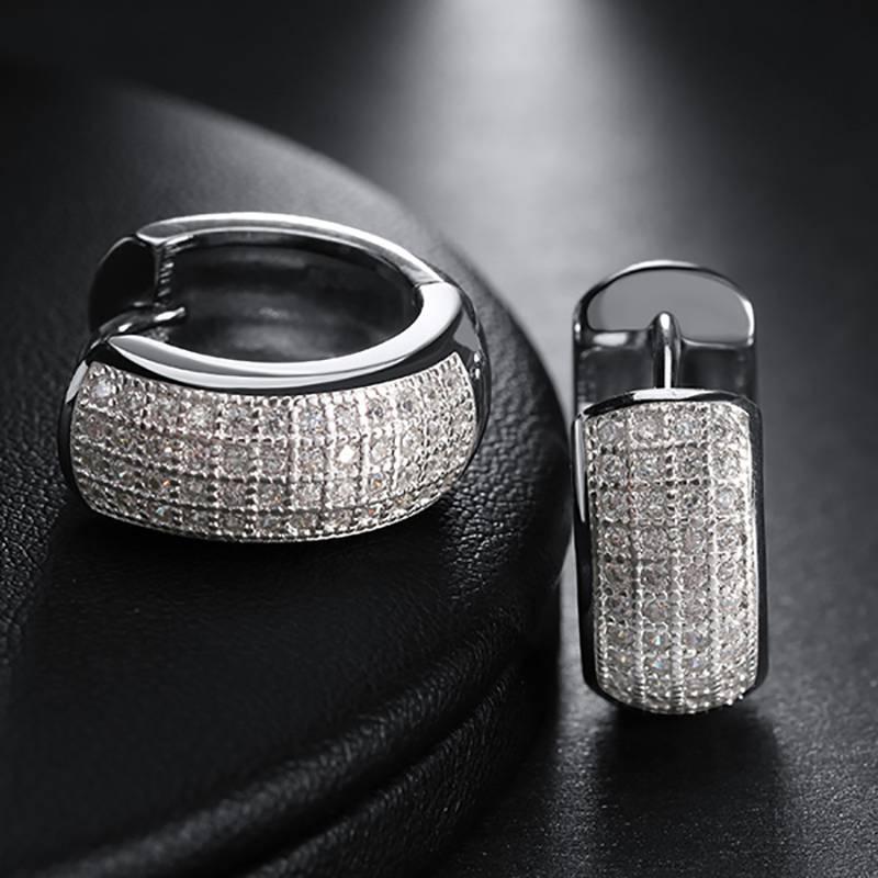 Classic Women's Earrings with Zirconia Earrings cb5feb1b7314637725a2e7: Gold|Rose Gold|Silver