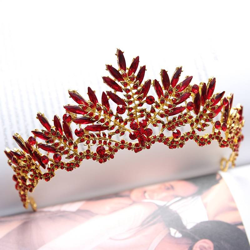 Colorful Zinc Tiara with Stones