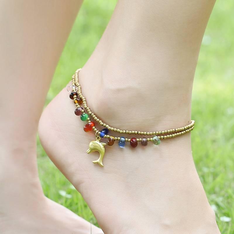 Fashion Boho Summer Handmade Beaded Anklet Anklets ae284f900f9d6e21ba6914: Dolphin|Elephant|Starfish