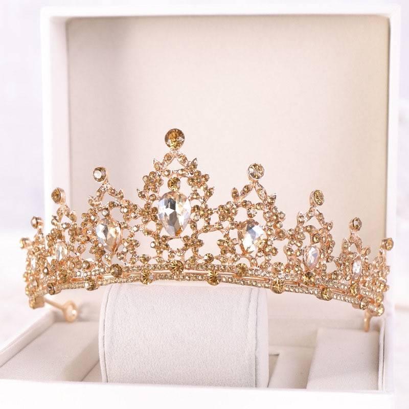 Gold / Blue Rhinestone Women's Hair Tiara Hair Jewelry cb5feb1b7314637725a2e7: Blue|Gold