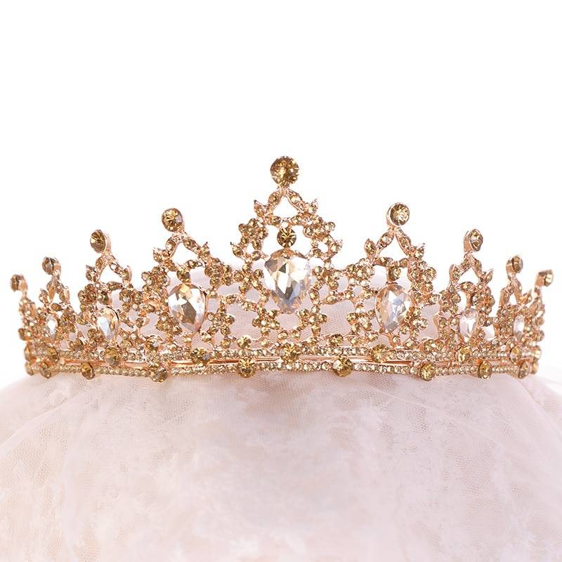 High-Quality Multicolored Tiara for Women Hair Jewelry cb5feb1b7314637725a2e7: Blue|Gold|White