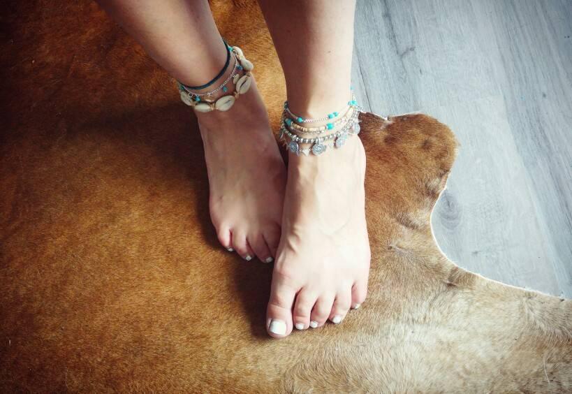 Hippie Women's Anklet / Bracelet Anklets b72f4ca38e4d5f7c147382: Anklet 21 cm|Bracelet 16 cm