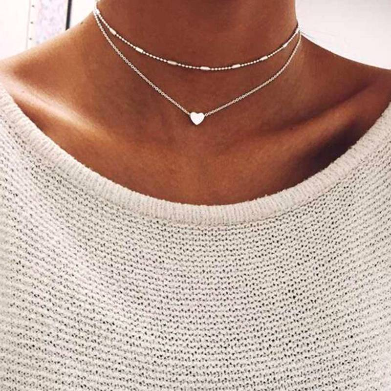 Lovely Style 2 Layers Necklaces Necklaces 8d255f28538fbae46aeae7: 1|2