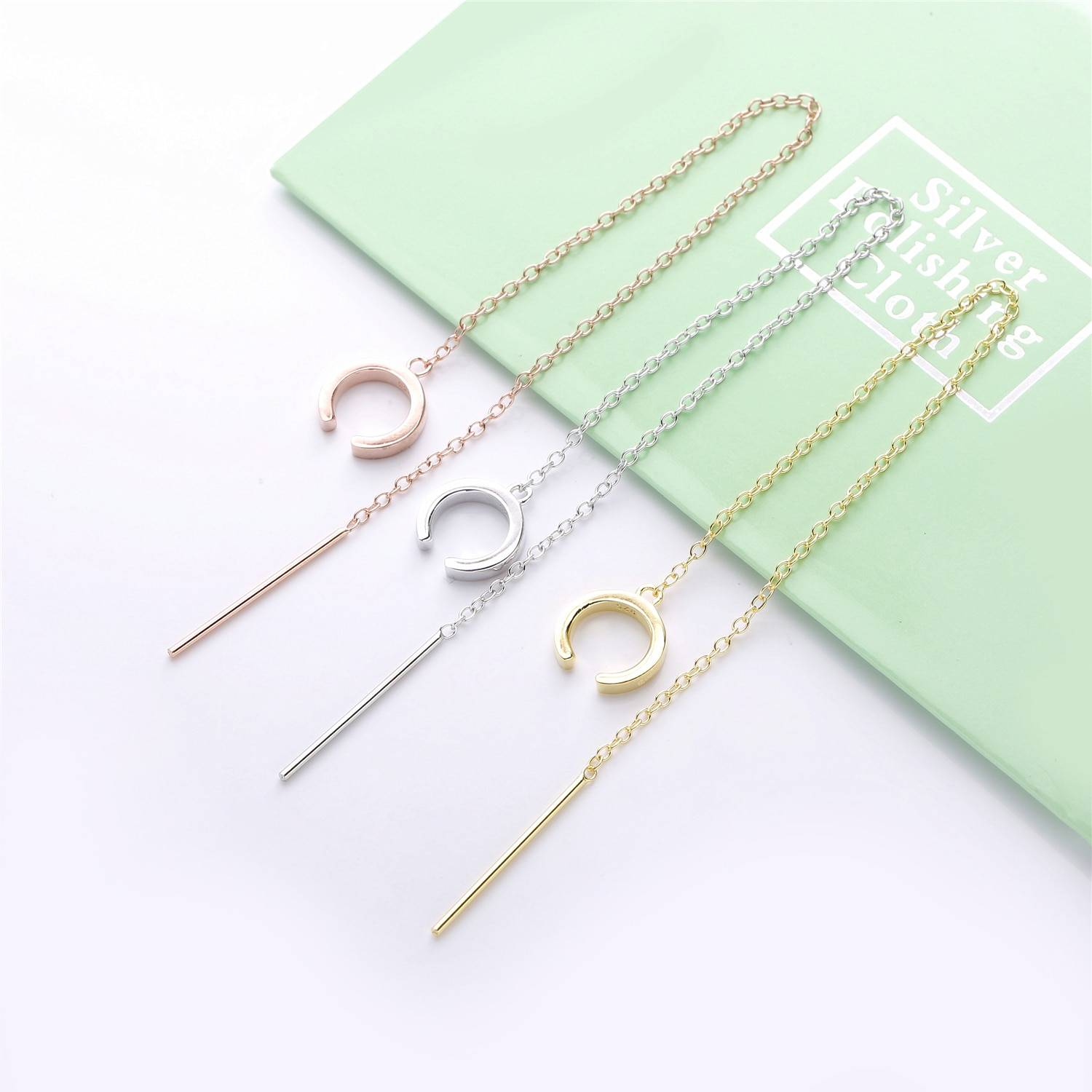 Minimalist Banded Chain Cuff Earring Earrings cb5feb1b7314637725a2e7: Gold 1|Gold 2|Rose Gold 1|Rose Gold 2|Silver 1|Silver 2