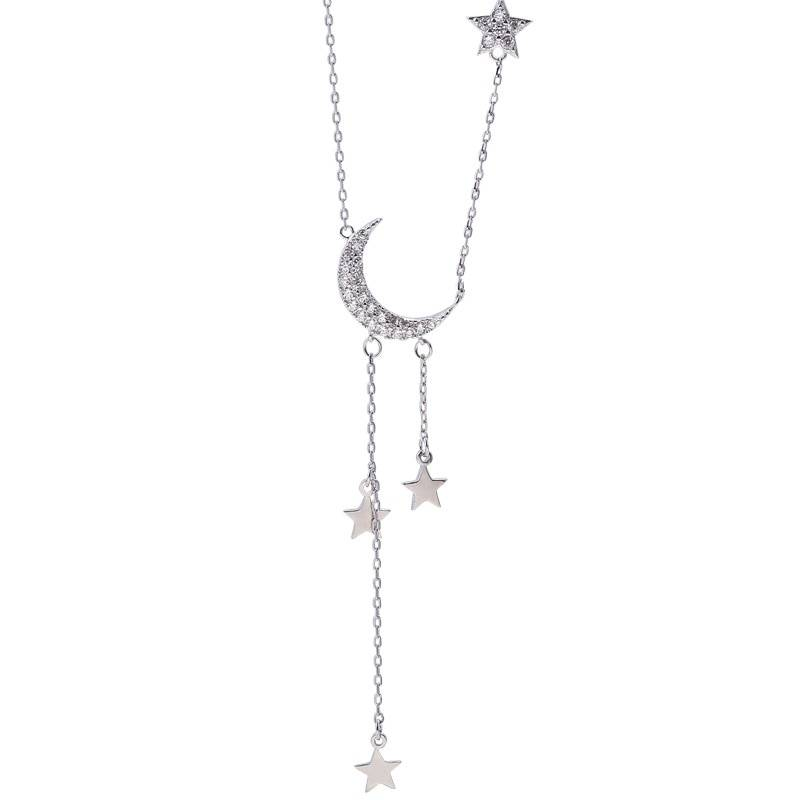 Moon Patterned Necklace Necklaces