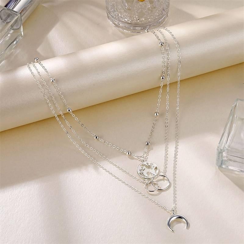 Multilayer Pendant Necklace Set