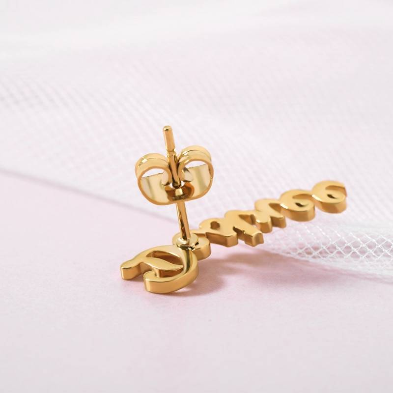 Personalized Name Earrings For Women Earrings cb5feb1b7314637725a2e7: Black|Gold|Platinum|Rose Gold
