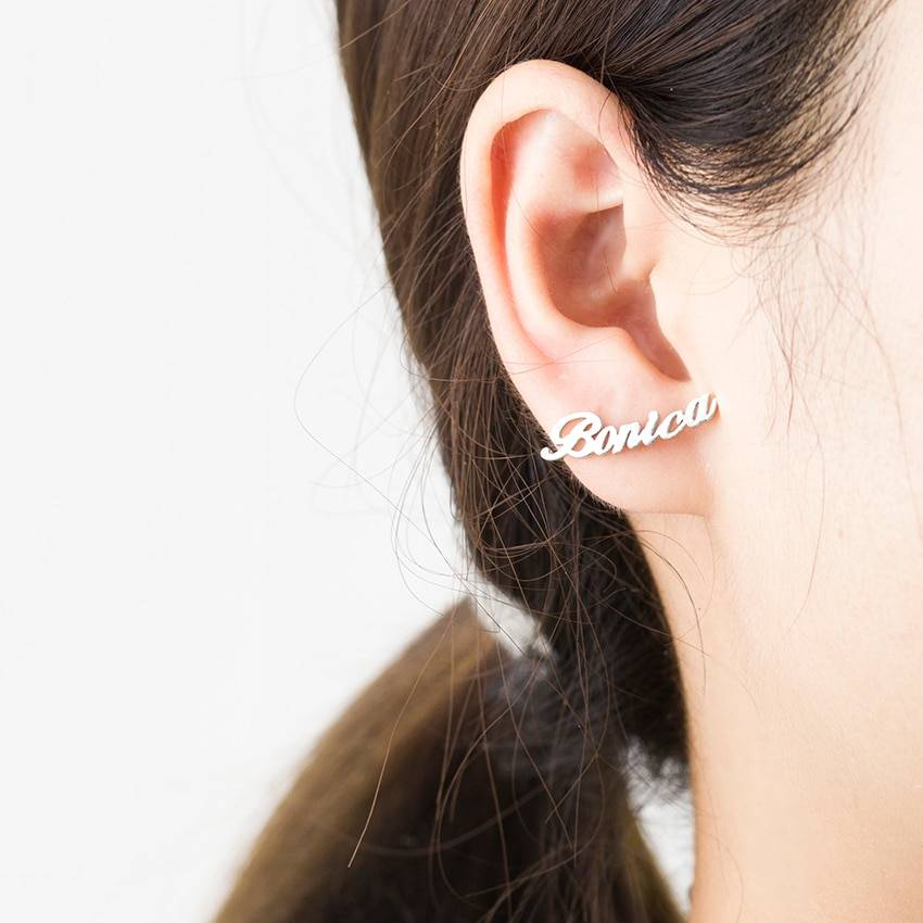 Personalized Name Earrings For Women