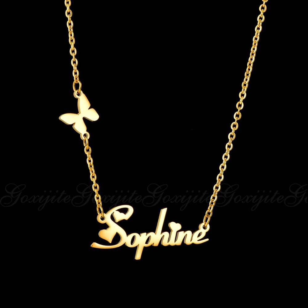 Personalized Stainless Steel Pendant with Butterfly Necklaces ba2a9c6c8c77e03f83ef8b: 35 cm / 13.78 inch 40 cm / 15.75 inch 45 cm / 17.72 inch 50 cm / 19.69 inch 55 cm / 21.65 inch 60 cm / 23.62 inch