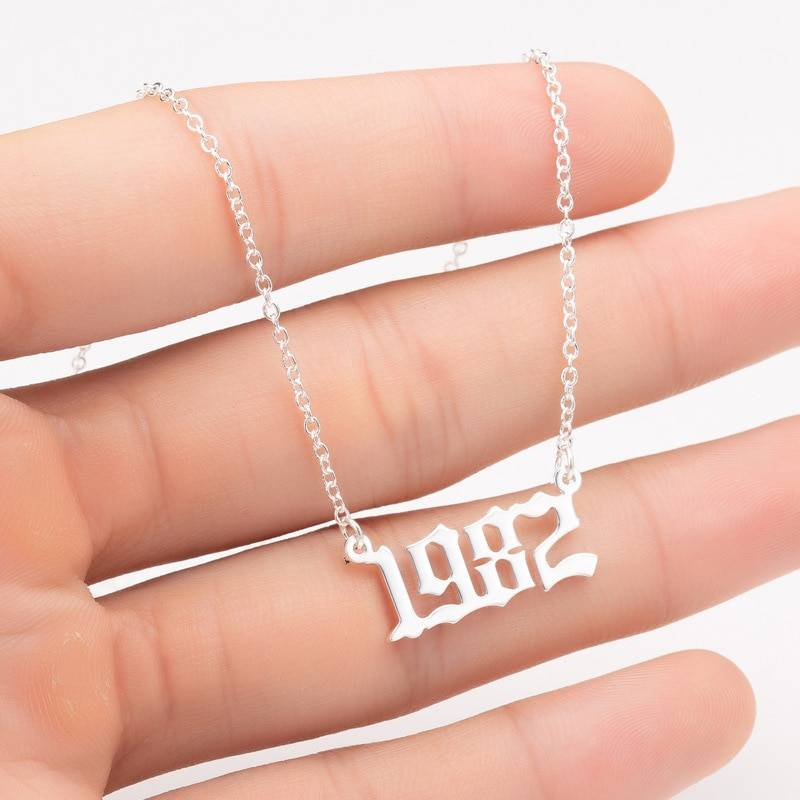 Personalized Year of Birth Necklace