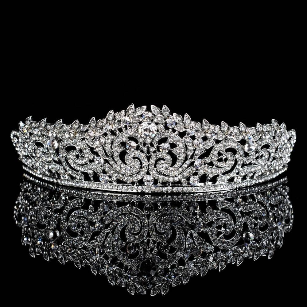 Shiny Silver Women's Crown Hair Jewelry