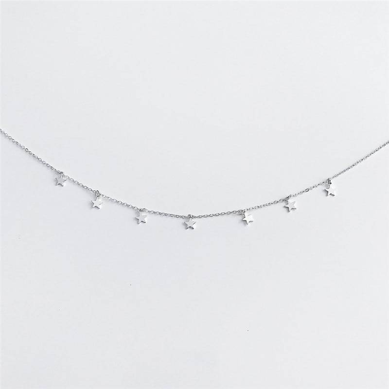 Star Decorated Choker for Girls Chokers & Pendants cb5feb1b7314637725a2e7: Gold|Silver