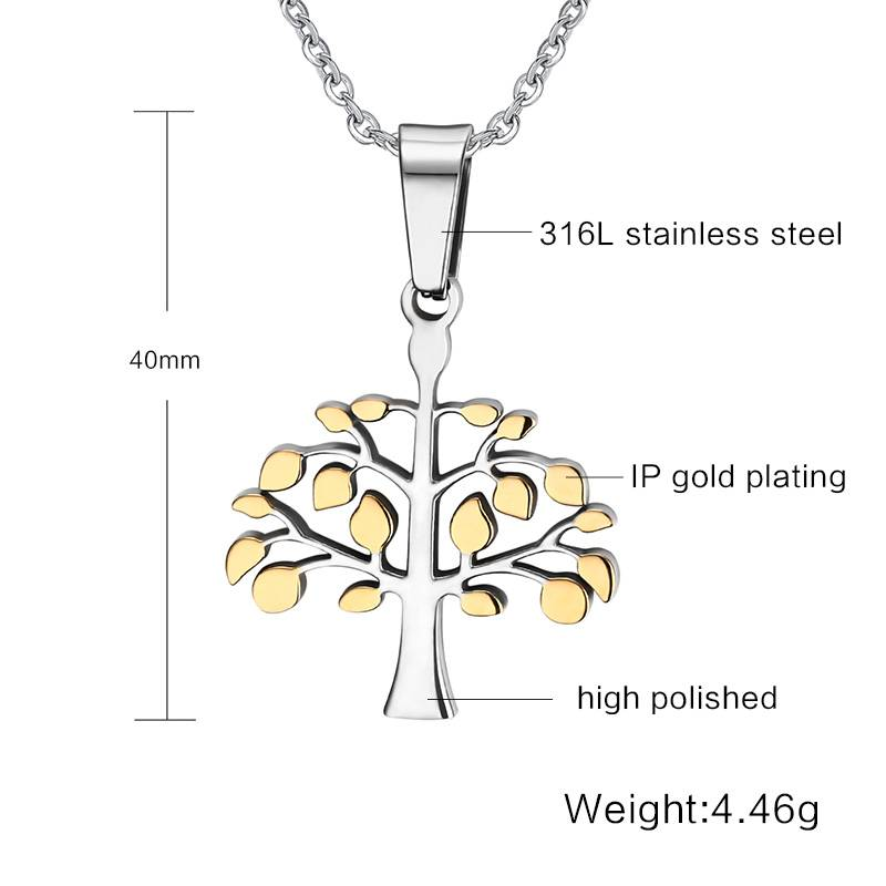 Unisex Tree of Life Pendants Chokers & Pendants 8d255f28538fbae46aeae7: Gold|Silver