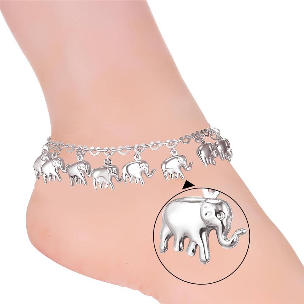 Women's Anklet With Elephants Anklets ac3392f65400ecd3a7af3c: 18K Gold Plated|Platinum Plated