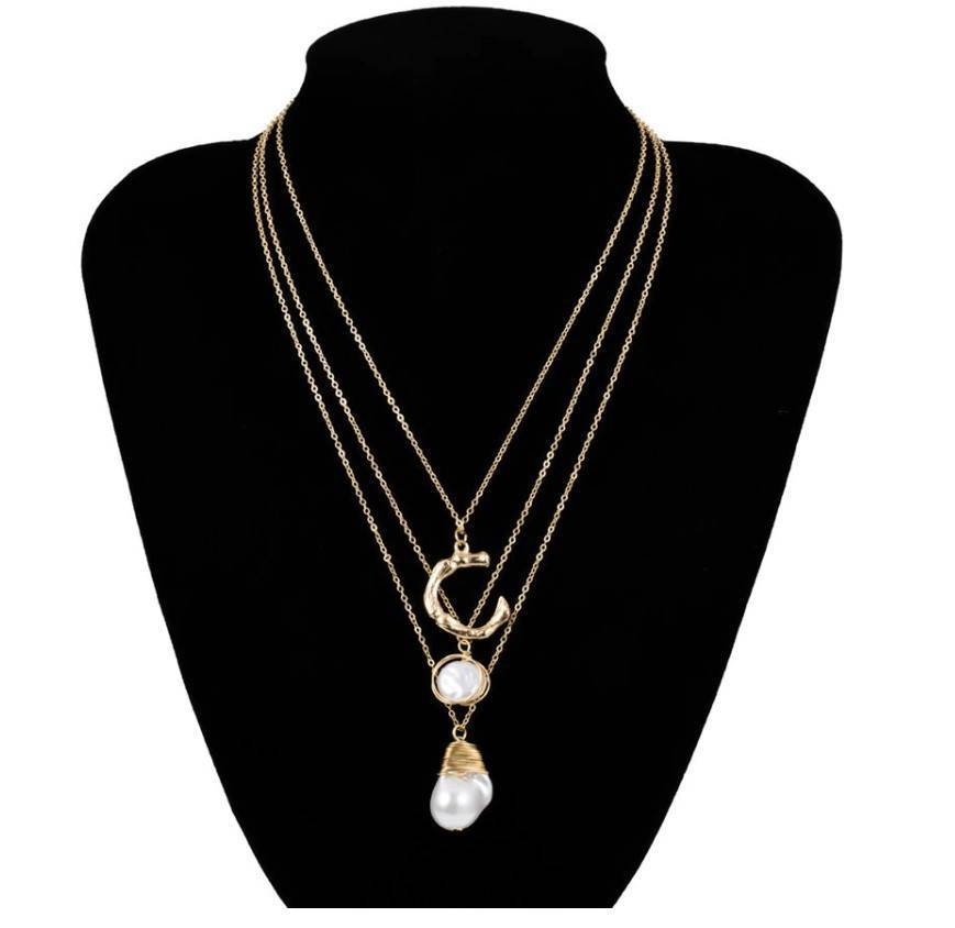 Women's Boho Style Multi-Layer Pearl Necklace