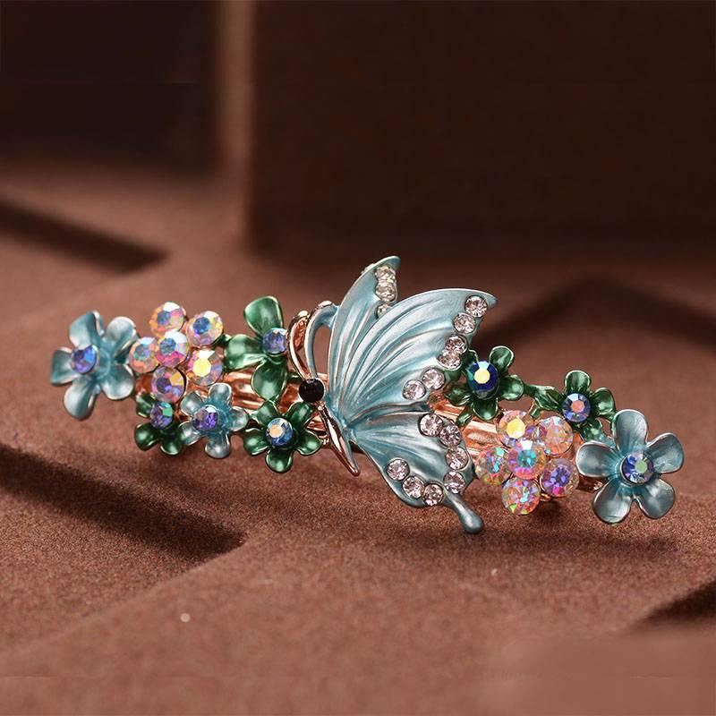 Women's Charming Barrette with Rhinestones Hair Jewelry cb5feb1b7314637725a2e7: Multicolor