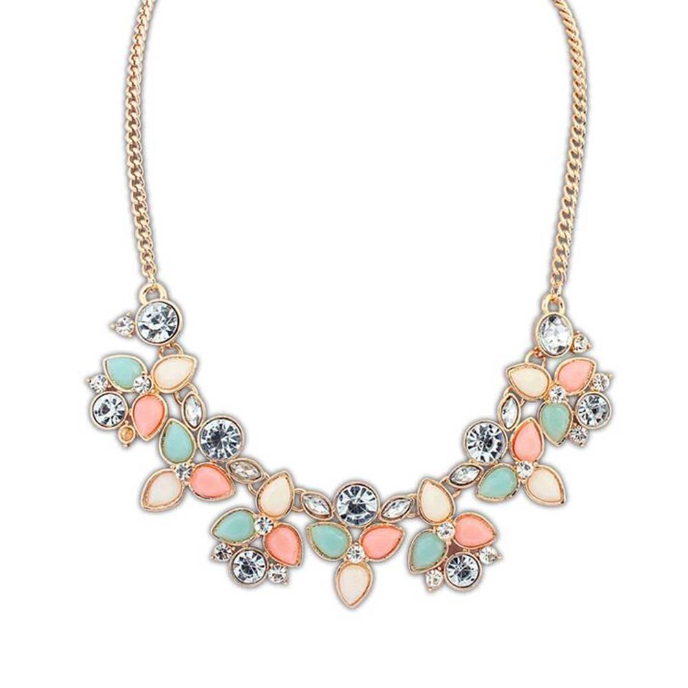 Women's Charming Floral Necklace Necklaces cb5feb1b7314637725a2e7: Multicolor|White