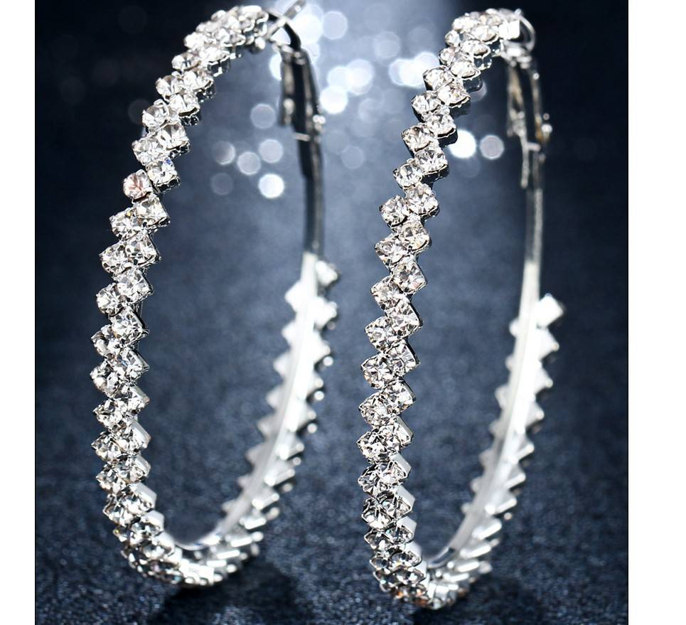 Women's Crystal Hoop Earrings