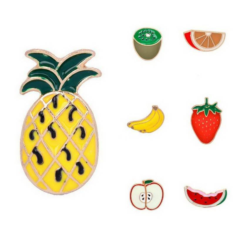 Women's Fruits Shaped Brooches Brooches 880c1273b27d27cfc82004: Apple|Banana|Kiwi|Pineapple