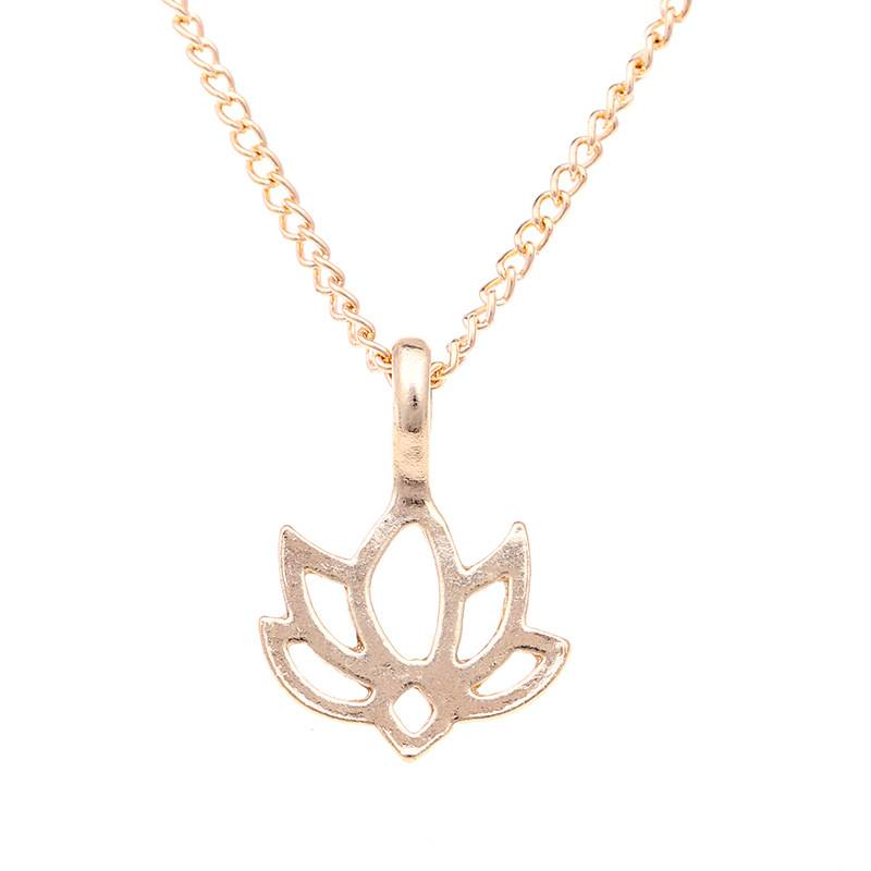 Women's Good Karma Lotus Necklace Necklaces 5d5b78699e57104f2fa03b: Necklace|Necklace with Card