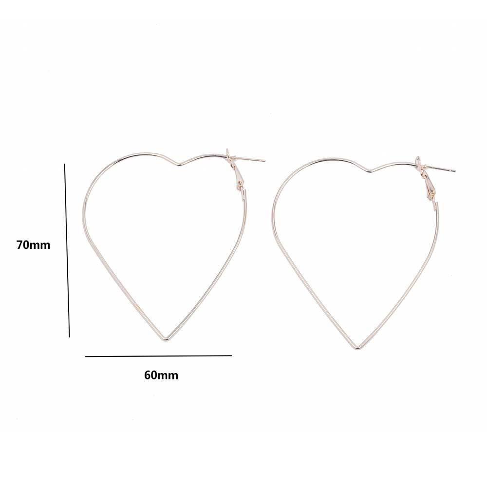 Women's Heart Shaped Hoop Earrings Earrings 8d255f28538fbae46aeae7: Gold|Silver