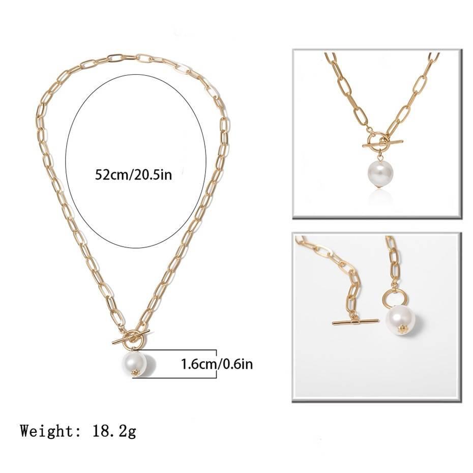 Women's Imitation Pearl Pendant Necklaces