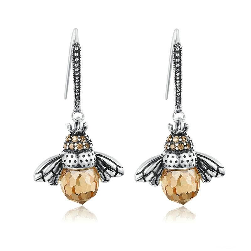 Women's Lovely Bee Drop Earrings Earrings