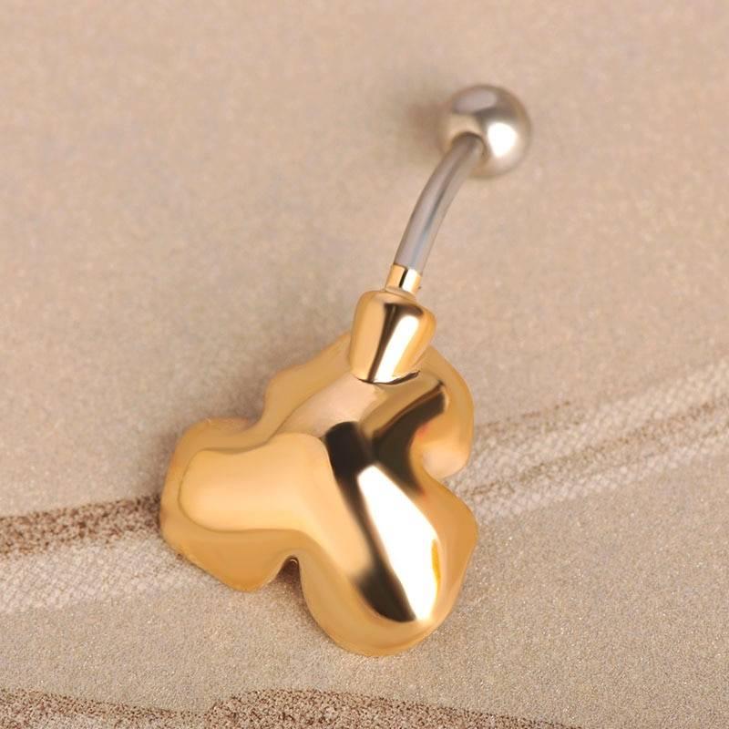 Women's Luxurious Enamel Flower Shaped Belly Button Ring Body Jewelry cb5feb1b7314637725a2e7: Blue|Gold|Green|Pink