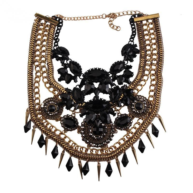 Women's Luxury Vintage Necklace Necklaces cb5feb1b7314637725a2e7: Black
