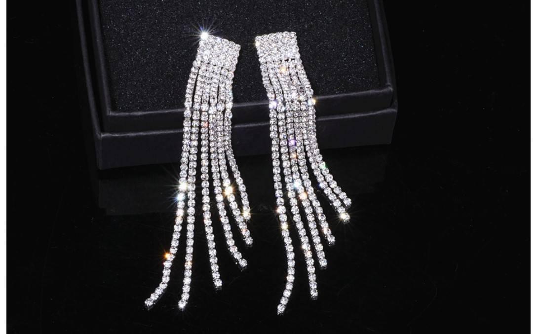 Women's Rhinestone Tassel Earrings