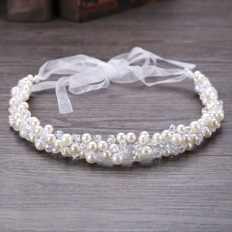 Women's Romantic Crystal Headband Hair Jewelry cb5feb1b7314637725a2e7: White