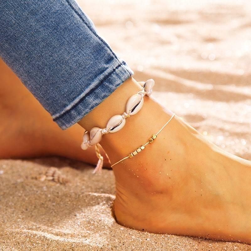 Women's Seashell Style Anklet