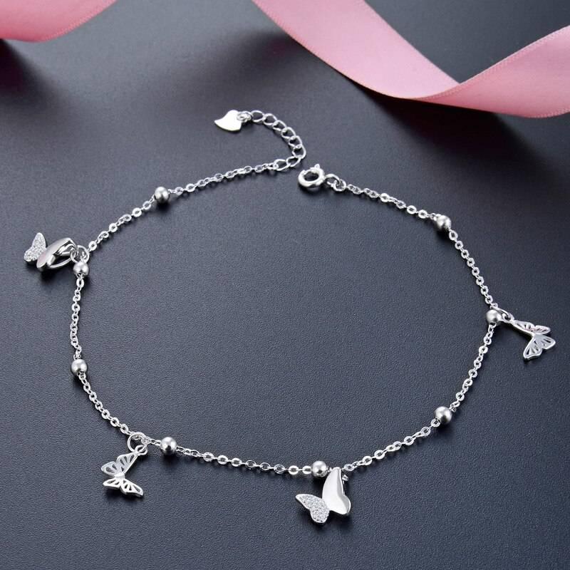 Women's Silver Butterfly Shape Ankle Bracelet Anklets cb5feb1b7314637725a2e7: Silver