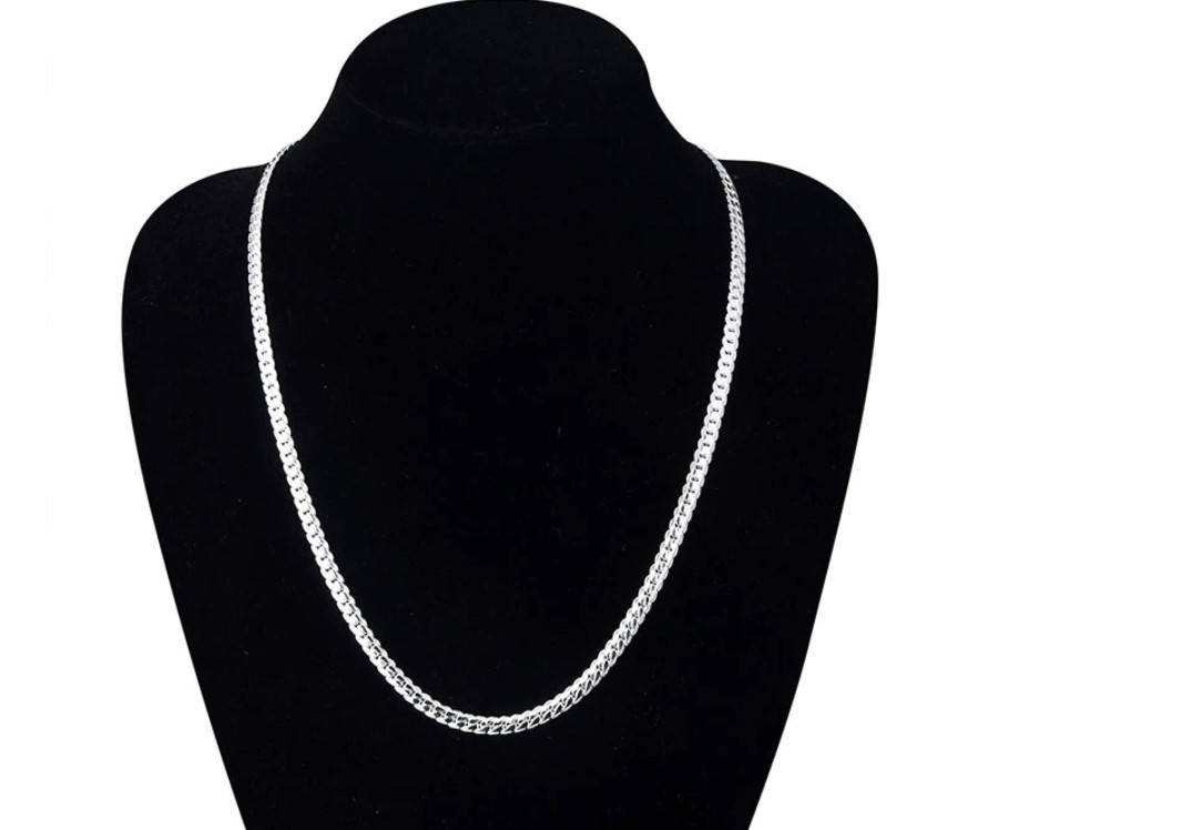 Women's Silver Plated Chain Necklace
